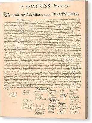 Declarations Of Independence Canvas Print