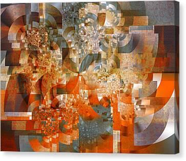 Canvas Print featuring the digital art Deco Bubbles by Richard Ortolano