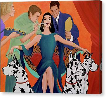 Deco Diva Canvas Print by Tony Franza