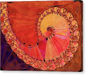 Deco Elemental Canvas Print by Susan Maxwell Schmidt