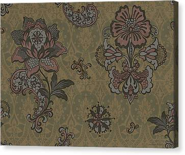 Deco Flower Brown Canvas Print by JQ Licensing