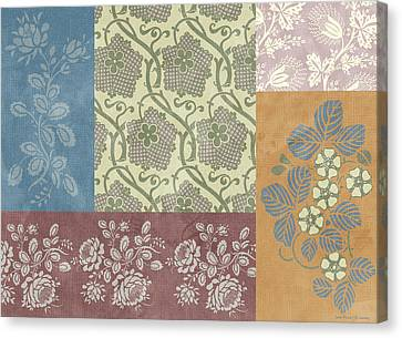 Deco Flower Patchwork 2 Canvas Print