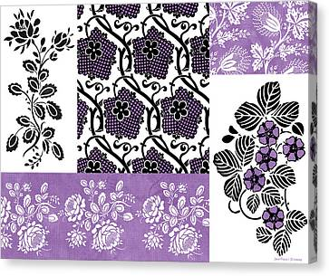 Patchwork Quilts Canvas Print - Deco Flower Patchwork 3 by JQ Licensing