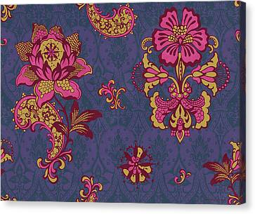 Patchwork Quilts Canvas Print - Deco Flower Purple by JQ Licensing