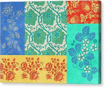 Patchwork Quilts Canvas Print - Deco Flowers by JQ Licensing