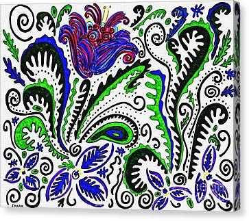 Deco Garden Canvas Print by Sarah Loft