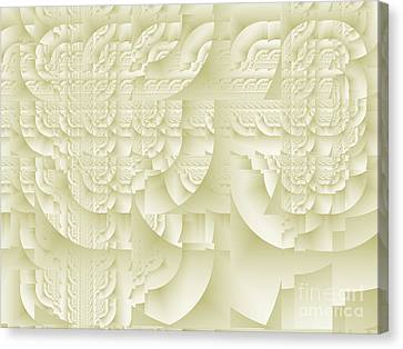 Canvas Print featuring the digital art Deco Relief by Richard Ortolano