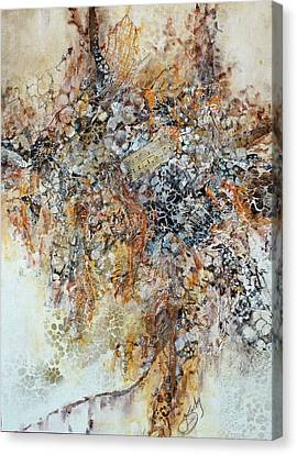 Canvas Print featuring the painting Decomposition  by Joanne Smoley