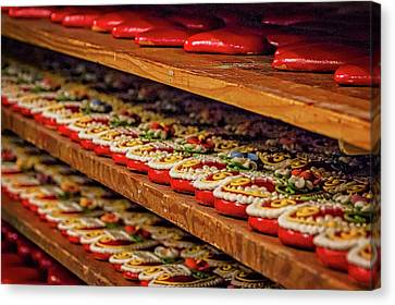 Canvas Print featuring the photograph Decorated Gingerbread - Slovenia by Stuart Litoff