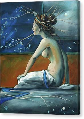 Decorative Blue Nymph Canvas Print