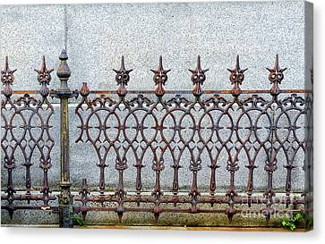 Antique Ironwork Canvas Print - Decorative Cast And Wrought Iron Fence_ Nola by Kathleen K Parker
