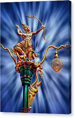 Decorative City Lamp Post Khon Kaen-thailand Canvas Print