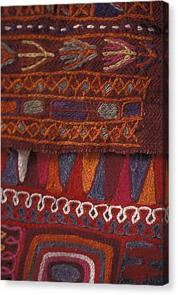 Decorative Cloth In Petra, Jordan Canvas Print by Richard Nowitz