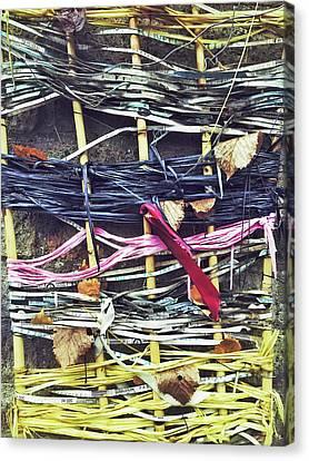 Decorative Colorful Ribbons Canvas Print