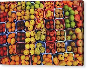 Srdjan Kirtic Canvas Print - Decorative Fruits Pattern In Vietnam by Srdjan Kirtic