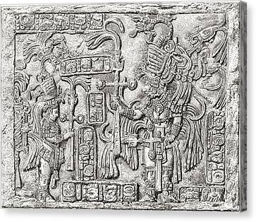 Mayan Mythology Canvas Print - Decorative Lintel From The Ancient by Vintage Design Pics