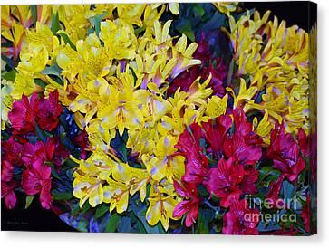Decorative Mixed Media Floral A3117 Canvas Print by Mas Art Studio