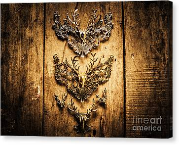 Decorative Moose Emblems Canvas Print by Jorgo Photography - Wall Art Gallery