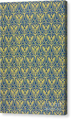 Decorative Pattern With The German Coat Of Arms Canvas Print by German School