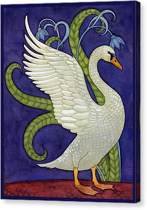 Decorative Swan Canvas Print