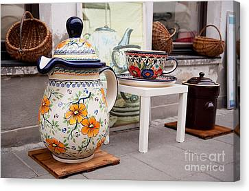 Decorative Traditional Earthenware Canvas Print by Arletta Cwalina