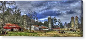 Dedication Boswell Dairy Farm Greene County Ga Canvas Print by Reid Callaway