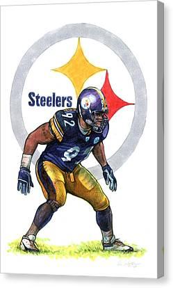 Steelers Canvas Print - Deebo by Erik Schutzman