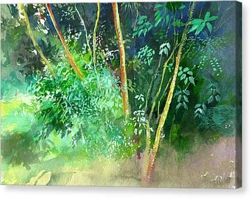 Deep Canvas Print by Anil Nene