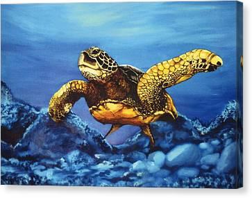 Deep Blue Canvas Print by Kathleen Kelly Thompson