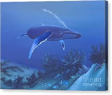 Deep Blue Canvas Print by Michael Allen