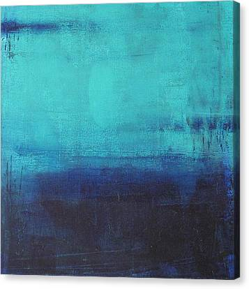 Canvas Print featuring the painting Deep Blue Sea by Nicole Nadeau