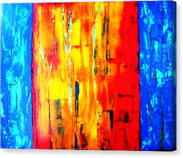 Canvas Print featuring the painting Deep Bond by Piety Dsilva