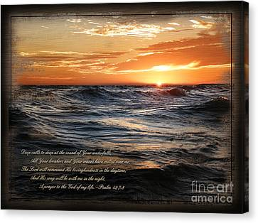 Canvas Print featuring the mixed media Deep Calls To Deep - Rustic by Shevon Johnson