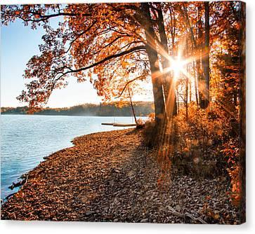 Deep River County Park Canvas Print - Deep Creek Lake Fall II by Neal Blizzard
