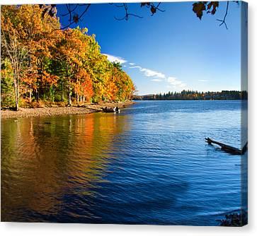 Deep River County Park Canvas Print - Deep Creek Lake Fall IIi by Neal Blizzard