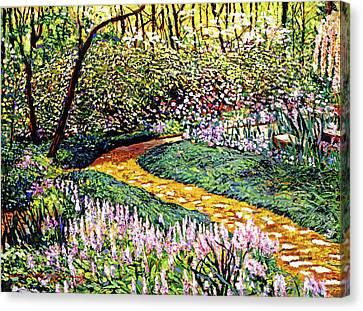 Deep Forest Garden Canvas Print by David Lloyd Glover