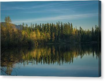 Deep River County Park Canvas Print - Deep Lake, Late Afternoon by Rich Leighton