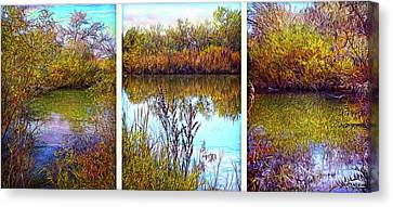 Deep Lake Reflections - Triptych Canvas Print