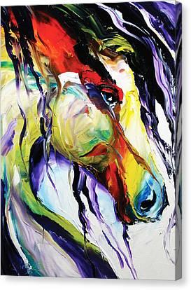 Dressage Canvas Print - Deep Memories by Laurie Pace