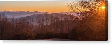 Deep Orange Sunrise Canvas Print