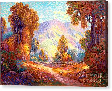 Radiant Peace, Colors Of Fall Canvas Print by Jane Small