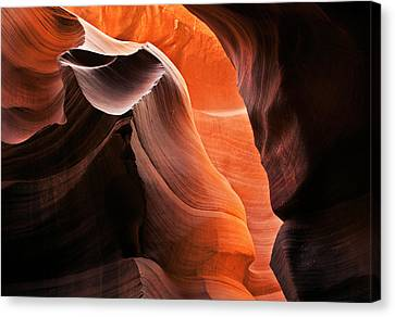 Deep Red Glow Canvas Print by Mike  Dawson