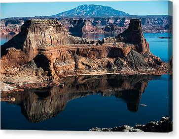 Deep Reflections In Lake Powell Canvas Print