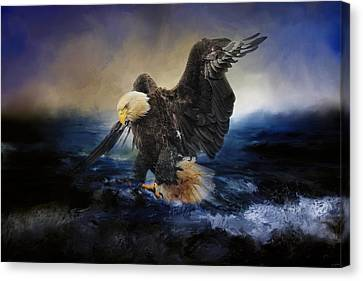 Deep Sea Fishing Canvas Print