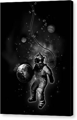 Deep Sea Space Diver Canvas Print