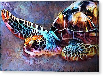 Deep Sea Trutle Canvas Print