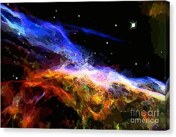 Deep Space Abstraction Canvas Print by John Malone