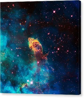 Deep Space Smoke Canvas Print by Jennifer Rondinelli Reilly - Fine Art Photography