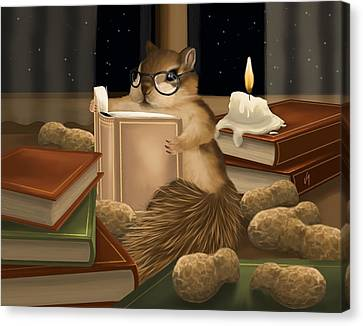 Candle Lit Canvas Print - Deep Study by Veronica Minozzi