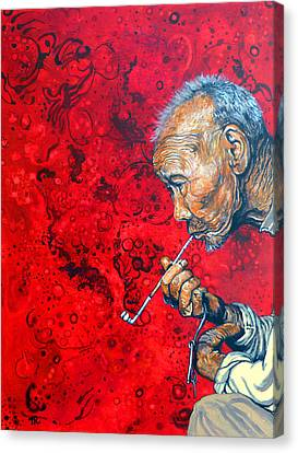 Canvas Print featuring the painting Deep Thoughts by Tom Roderick